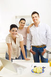 Happy office worker team Royalty Free Stock Photo