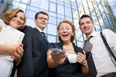 Happy office  workers Royalty Free Stock Photography
