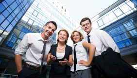 Happy office workers Stock Image