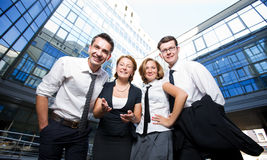 Happy office workers Stock Images
