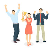 Happy office workers. Stock Photos