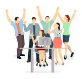 Happy office workers. Royalty Free Stock Photography