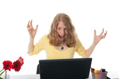 Happy at the office Royalty Free Stock Photos