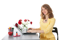 Happy at the office Stock Photography
