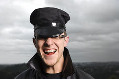 Happy officer Royalty Free Stock Photography