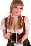 Happy Oktoberfest waitress Royalty Free Stock Images