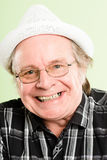 Happy man portrait real people high definition green background Royalty Free Stock Image