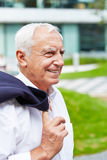 Happy old businessman Royalty Free Stock Photo