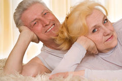Happy old couple Stock Photos