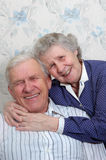 Happy old couple Royalty Free Stock Photo