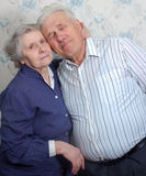Happy old couple. Stay together Royalty Free Stock Photography
