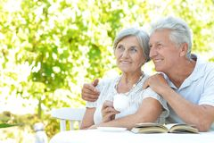 Happy old couple Royalty Free Stock Images