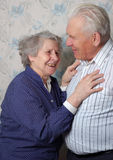 Happy old couple laugh Stock Images