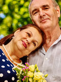 Happy old couple outdoor Royalty Free Stock Photo