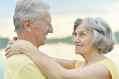 Happy old couple Royalty Free Stock Image