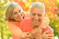 Happy old couple Stock Photos