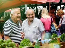 Free Happy Old Fellows In A Mediterran Market Stock Image - 109751571