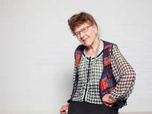 Happy old female Royalty Free Stock Photo
