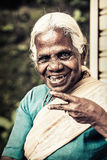 Happy old indian woman. Elderly wrinkles stock images