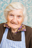 Happy old lady. Very old grandmother smiling to camera Royalty Free Stock Image