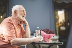 Free Happy Old Male Enjoying Evening Outdoors Royalty Free Stock Photography - 121333907