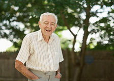 Happy old man royalty free stock photography