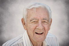 Happy old man. Smiling happy old senior man closeup Stock Photography