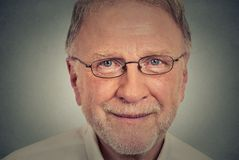 Happy Old Man with glasses. Portrait of happy Old Man with glasses Stock Images