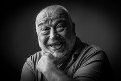 Happy old man looking strange Stock Image