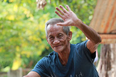 Happy old man smiling. In thailand Royalty Free Stock Photography