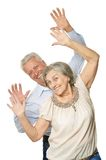 Happy old pair Royalty Free Stock Image