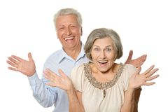Happy old pair Stock Photography