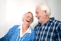 Happy old people Royalty Free Stock Photo
