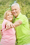 Happy old people stock photo