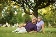 Happy old people Royalty Free Stock Images