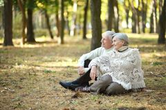 Happy old people Royalty Free Stock Photography
