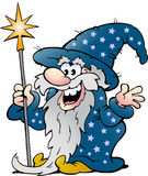 Happy Old Wizard Magic Man Stock Photos