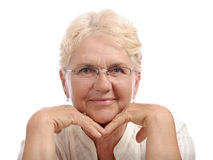 Happy old woman Royalty Free Stock Photos