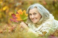 happy old woman Στοκ εικόνες με δικαίωμα ελεύθερης χρήσης