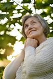 Happy old woman Stock Photo