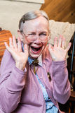 Happy Old Woman Stock Photography