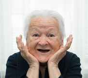 Happy old woman Stock Photos