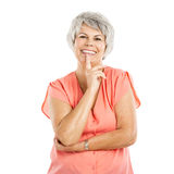 Happy old woman Royalty Free Stock Images