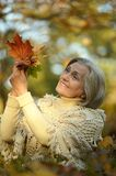 happy old woman Stock Images