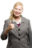 Happy older business woman Royalty Free Stock Image