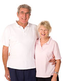 Happy older couple. Relaxing after gym workout Royalty Free Stock Image