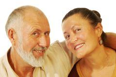 Happy older couple Royalty Free Stock Image