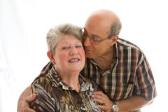 Happy older couple stock photography