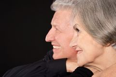 Happy older pair Royalty Free Stock Photo