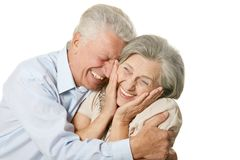 Happy older pair Stock Image